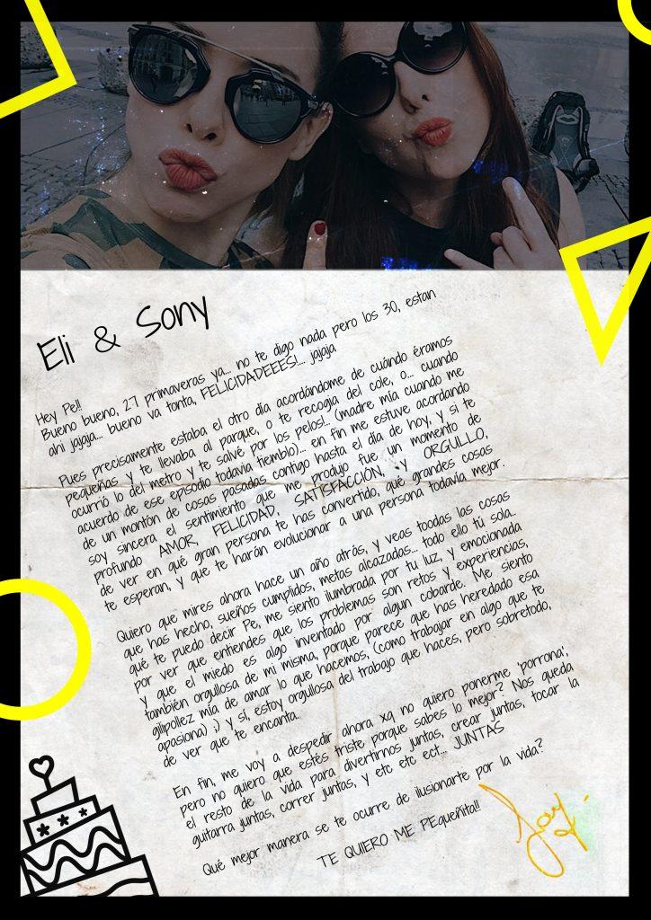 Letter a mi Pe FELICIDADEES